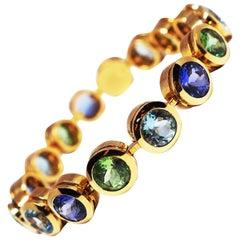 Fine Multi-Gem Tennis Bracelet