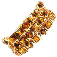 Gold Citrine Necklace (wearable also as bracelets)