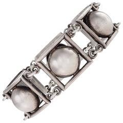 Jean Despres French Art Deco Silver Link Bracelet