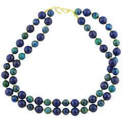 Lapis Lazuli and Azurite Unique Necklace