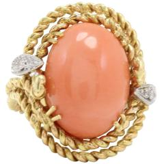Luise Diamonds Coral Dome Ring