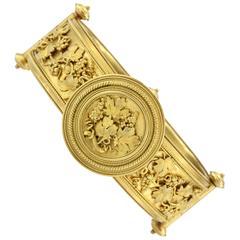 Victorian Gold Etruscan Revival Bracelet, circa 1870