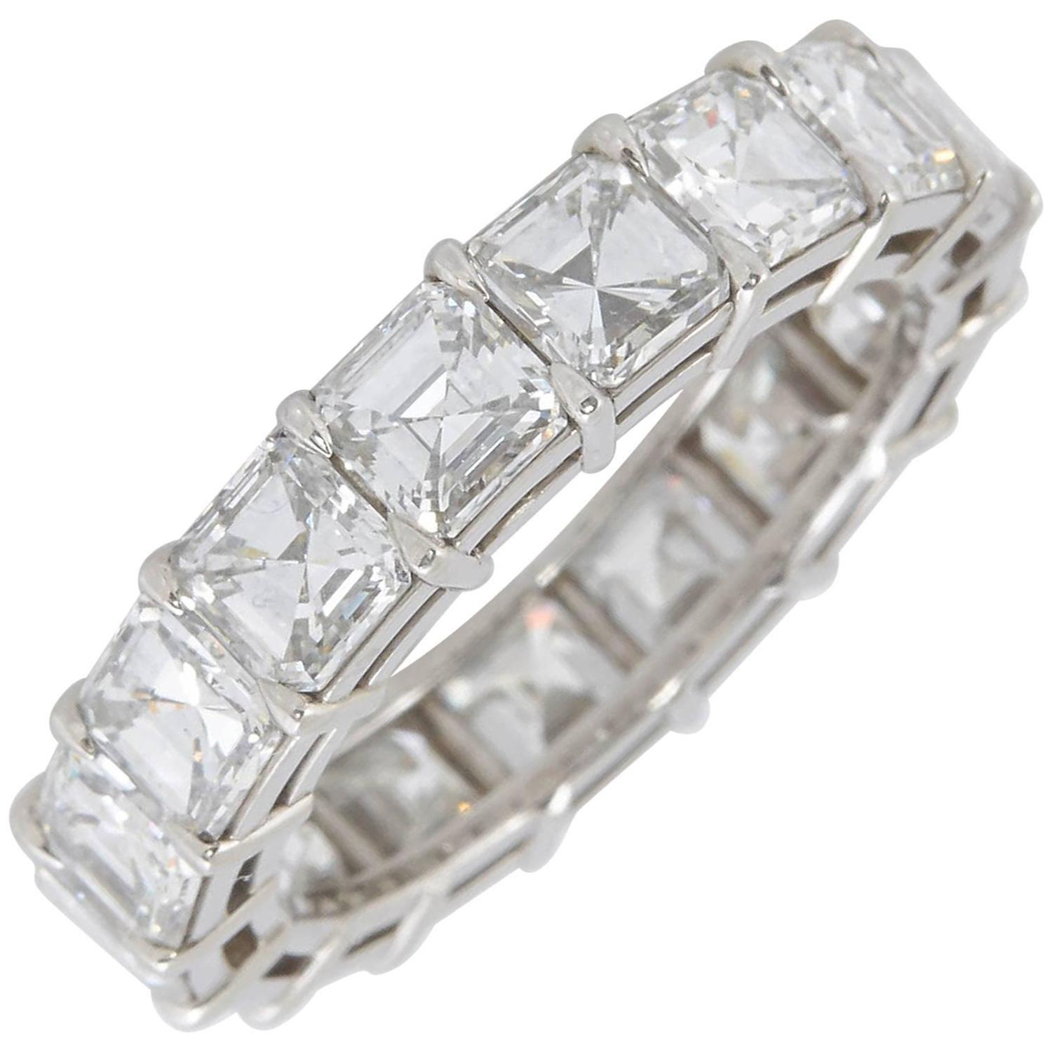 diamond platinum band engagement cut bands new emerald of eternity ring inspirational asprey in