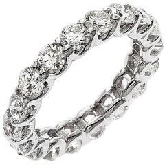 Emilio Jewelry .32 Carat Each Diamond U Prong Eternity Band
