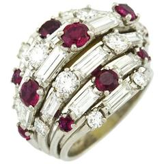 Van Cleef & Arpels Ruby and Diamond Cocktail Ring