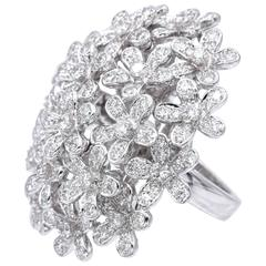 Van Cleef & Arpels Diamond White Gold Socrate Bouquet Ring