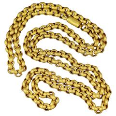 Antique Georgian Long Chain Original Chain and Clasp, circa 1780