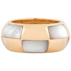 Mauboussin 18K Yellow Gold Band with Mother-of-Pearl