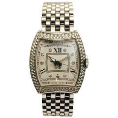 Bedat & Co. #3 Ladies Stainless Steel Diamond Automatic Wristwatch