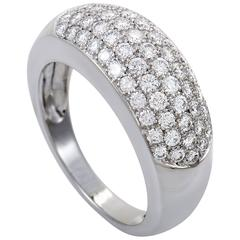 Van Cleef & Arpels White Gold Diamond Pave Band Ring