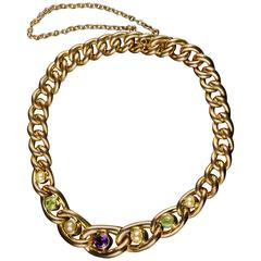 Antique Suffragette Gold Bracelet 15 Carat Gold, circa 1900