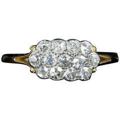 Antique Victorian Diamond ClusterRing 18 Carat Gold, circa 1900