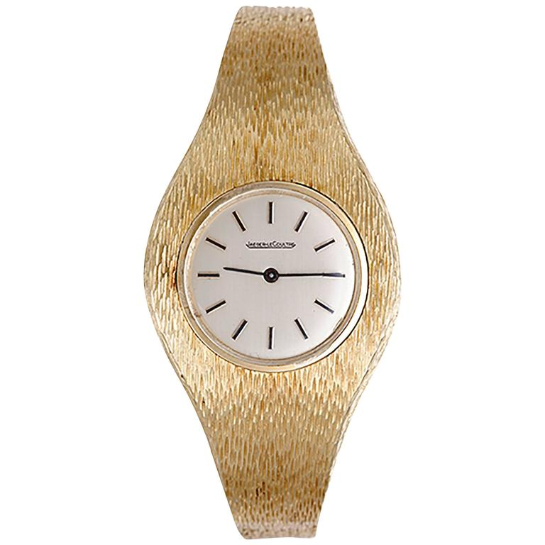 Jaeger-LeCoultre Ladies Yellow Gold Manual Wristwatch