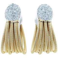 Marco Bicego Diamond Gold Rope Earrings