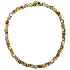 H. STERN Cobblestone Multi Stone Choker Necklace