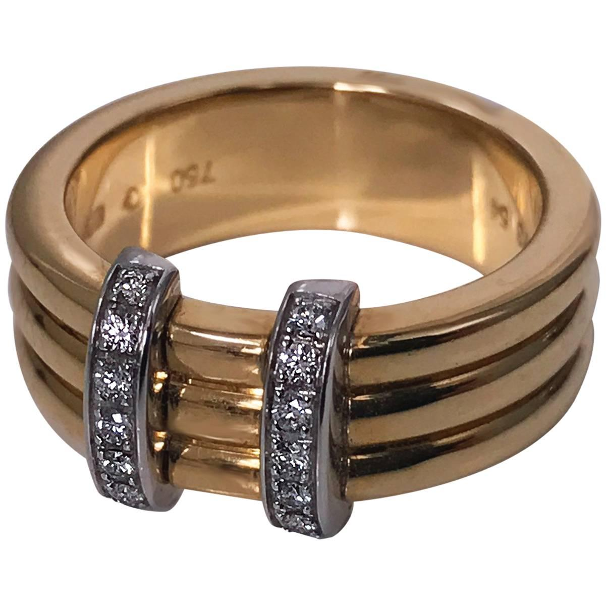Omega  Diamond Gold Ring