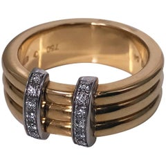 Omega  Diamond Gold Ring