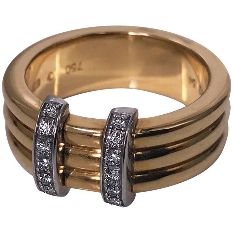 Omega  Diamond Gold Ring For Sale