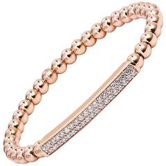 Diamond Rose Gold Bead Bracelet