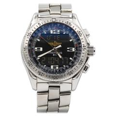 Breitling Stainless Steel B1 Black Dial Quartz Wristwatch