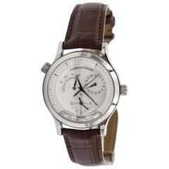 Jaeger LeCoultre Stainless Steel Master Geographic Wristwatch