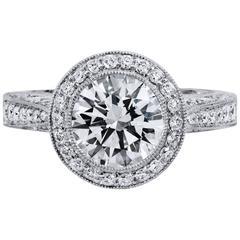 2.01 Carat Diamond Platinum Engagement Ring