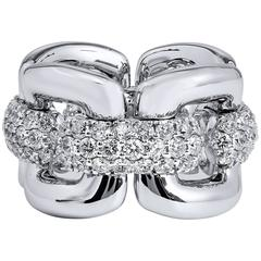 3.02 Carat Diamond Pave White Gold Knot Ring