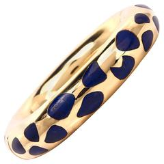Tiffany & Co. Angela Cummings Lapis Gold Bangle Bracelet