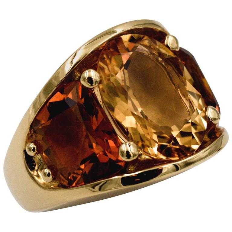Seaman Schepps 485 Park Avenue Collection Citrine Gold Ring