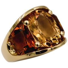 Seaman Schepps 485 Park Avenue Collection Citrine Gold Ring