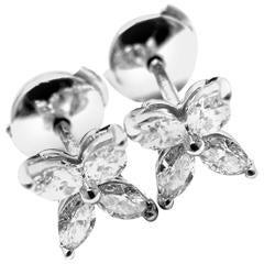 Tiffany & Co. Victoria .64 Carat Diamond Platinum Stud Earrings