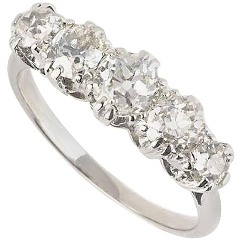 Five-Stone Diamond Ring 1.06 Carat
