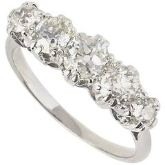 Five-Stone Diamond Ring 1.06 Carat