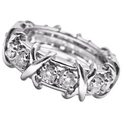 Tiffany & Co. Jean Schlumberger Diamond 16-Stone Platinum Band Ring