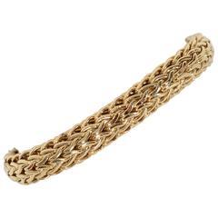 Heavy Woven Gold Bracelet