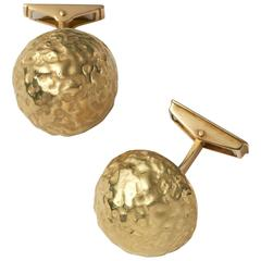 Grima Yellow Gold Nugget Cufflinks, 2011
