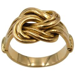 Antique Gold Hercules Knot Ring