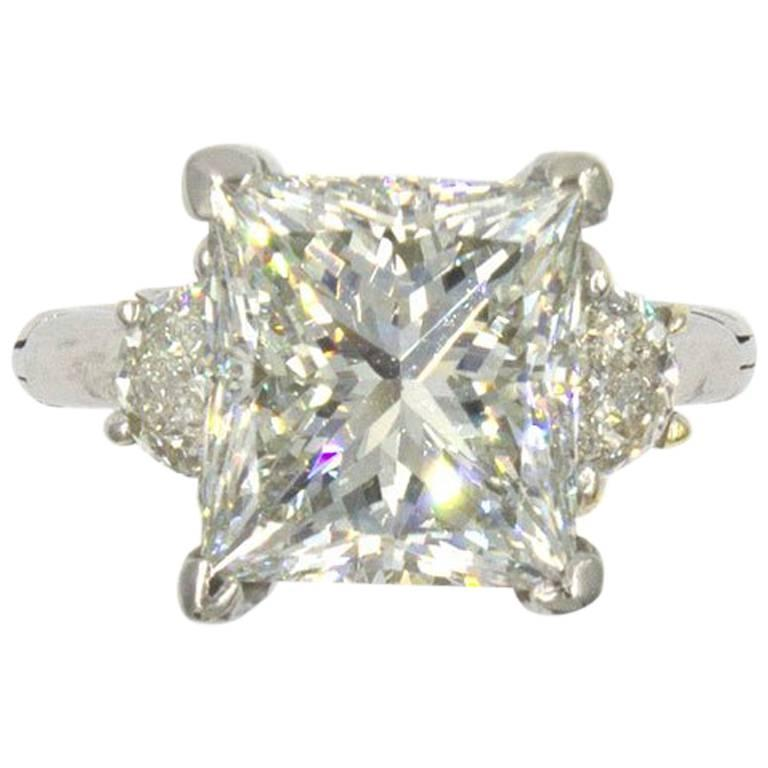 6 22 carat princess cut platinum engagement ring