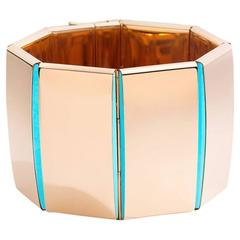 Vhernier Bridge Rose Gold and Turquoise Bracelet