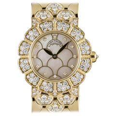 Patek Philippe Ladies Yellow Gold Diamond Set Cocktail Quartz Wristwatch