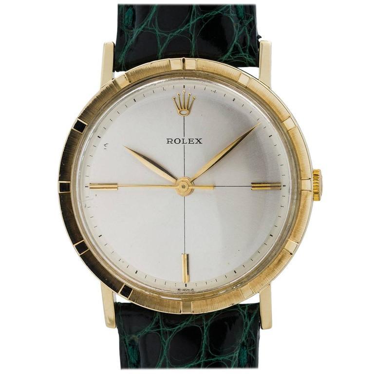 Rolex Yellow Gold Manual Wind Dress Wristwatch Model 8469, circa 1960s 1