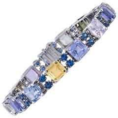 Oscar Heyman Multicolor 35.69 Carat Sapphires Bracelet