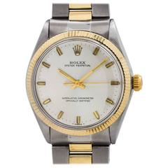 Rolex Yellow Gold Stainless Steel Oyster Perpetual Wristwatch, circa 1971