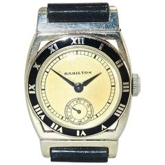 Hamilton White Gold Piping Rock Manual Wristwatch