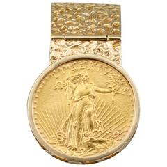 Saint Gaudens Twenty-Dollar Gold Coin Money Clip