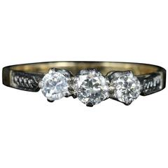 Antique Edwardian Diamond Trilogy Engagement Ring,circa 1915
