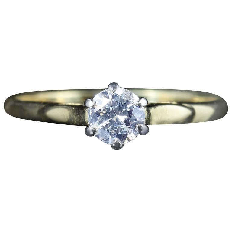Antique Victorian Diamond Solitaire Ring, circa 1900