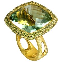 Alex Soldier Green Amethyst Peridot Gold Ring Limited Edition