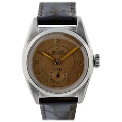 Rolex Stainless Steel Sub Seconds Bubble Back Watch, circa 1951