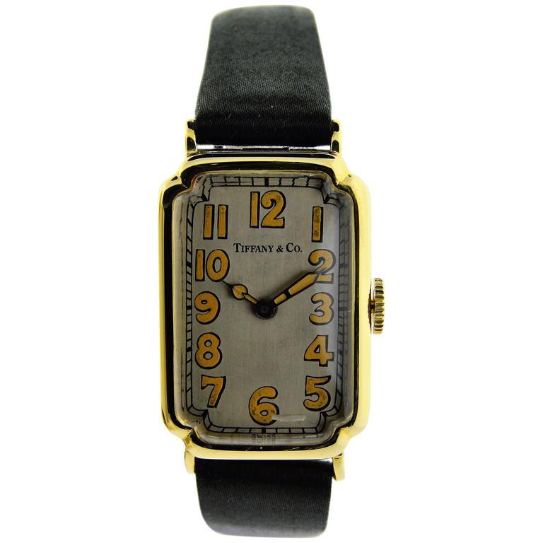 Tiffany & Co. Yellow Gold Manual Wind Watch
